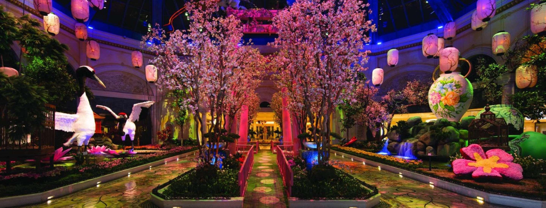 Botanisk trädgård Bellagio Las Vegas