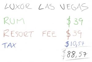 Resort Fee Las Vegas