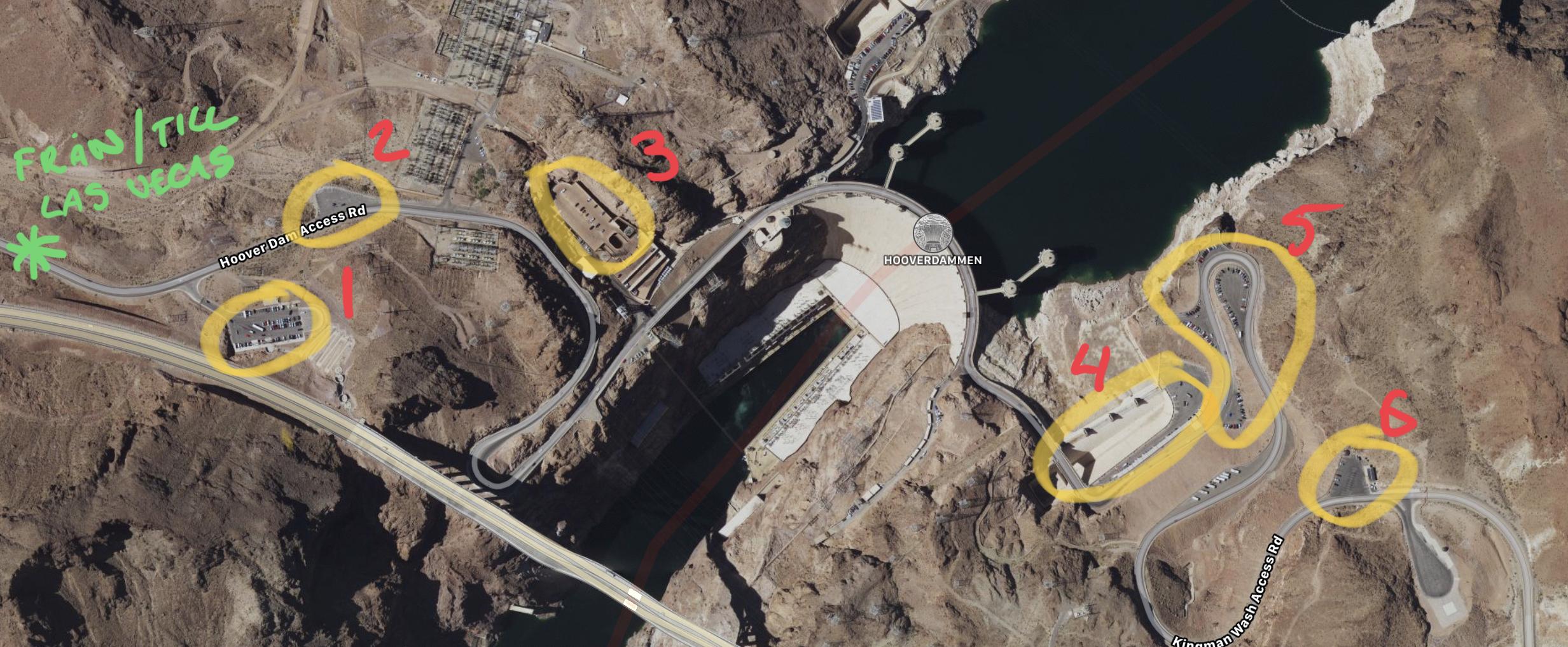 Parkering Hoover Dam