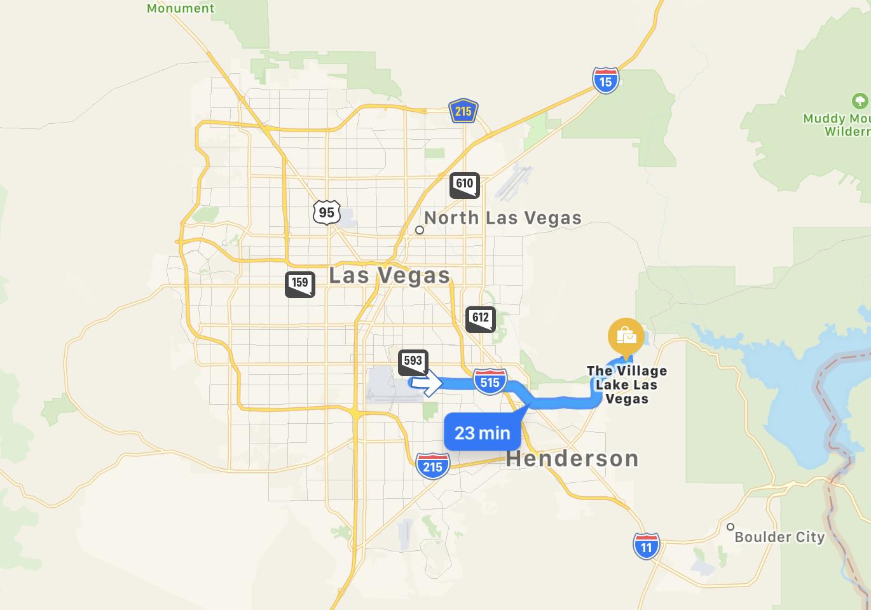 Lake Las Vegas bilkarta